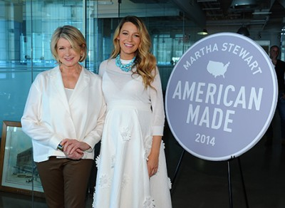 """Pregnant Blake Lively and Martha Stewart reunited at Martha Stewart's American Made event in NYC on Saturday, Nov. 8 Credit: Kevin Mazur"""