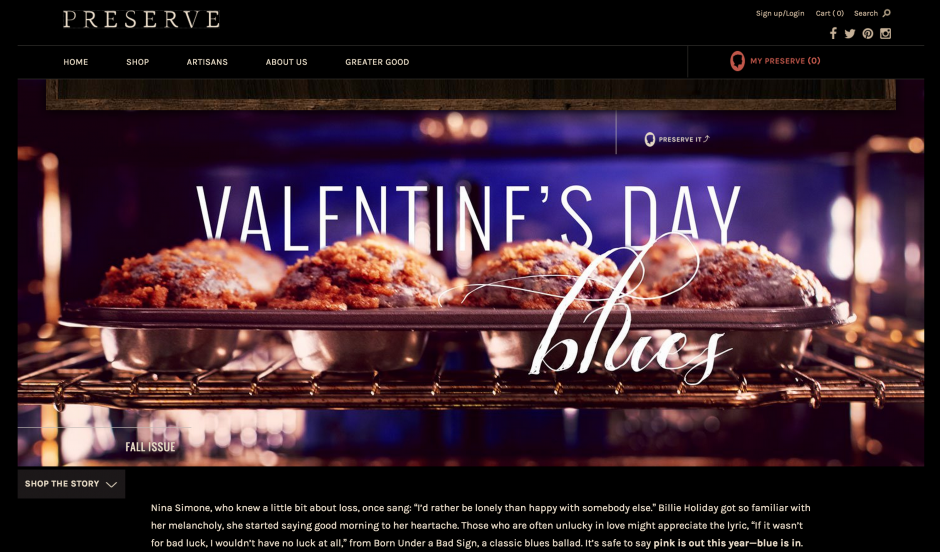 One of Preserve's Valentine's recipes.