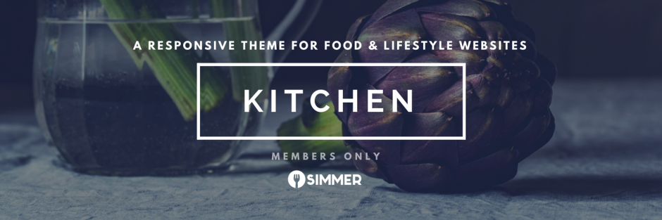 Responsive theme for food & lifestyle websites, Kitchen, for Simmer members only