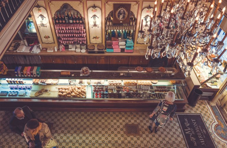 French bakery from above